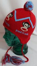 PAUL FRANK, RED ACRYLIC BLEND HAT, MADE IN USA, YOUTH SMALL, VGUC