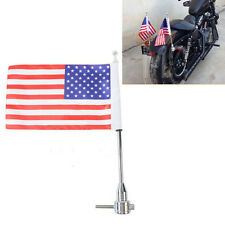 Luggage Rack Vertical Flag Pole American For Harley Touring Road King Glide&FLHT