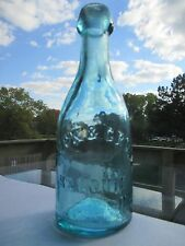BLOCK & GRONE ST. LOUIS, MO. EXCLNT AQUA BLOB TOP PONY SODA WATER IMP PONTIL FRL