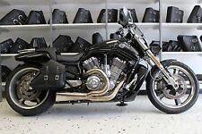 Harley V-ROD MUSCLE RIGHT Side BLACK SOLO BAG Saddlebag - VRR031 BAD&G CustomS