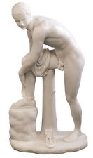 """Hermes Fastening his Sandal Statue by Lysippos Louvre Replica Reproduction 10"""""""