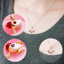 Anime Kinomoto Sakura Card Captor Sakura Star Wand Key Necklace Pendant Chain