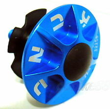 "gobike88 KCNC alloy headset kit (cap/bolt/star nut/rubber top), 1-1/8"", blue 711"