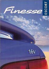 Ford Escort Finesse Mk6 Limited Edition 1998 UK Market Sales Brochure 1.6i 1.8TD