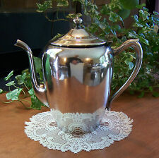 """Vtg FB Roger Silverplate Silver Plate Tea Coffee Pot Pitcher Server 4-Cup 7-1/2"""""""