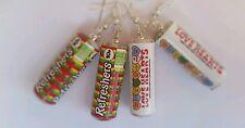 Retro sweet earrings refreshers - love hearts - novelty silver plated earrings