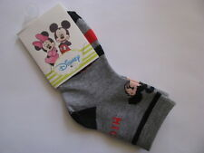 boys socks mickey mouse grey black red blue size 6 to 9 months
