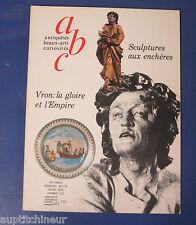 abc antiquités 174 sculpures aux enchères + vron la gloire et l'empire