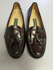 Cole Haan cordovan color leather tassel loafers. Men's 10 B