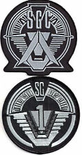 "Stargate SG-1 & SGC Command Logo 4"" Uniform Patch Set of 2 (FANTASTIC!)"