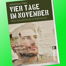 VIER TAGE IM NOVEMBER | MEIN KAMPFEINSATZ IN AFGHANISTAN | JOHANNES CLAIR (Buch)