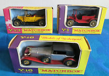Matchbox Lesney Models of Yesteryear_Daimler Y-13_Ford Y-1_Mercedes Y-16Oldtimer