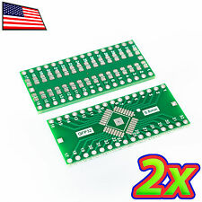 [2x] Double Sided QFP-32 to DIP-32 Adapter Breakout PCB Converter