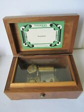 VINTAGE USED THORENS CYLINDER MUSIC BOX WINDS PLAYS HUMORESQUE ! NO RESERVE NICE