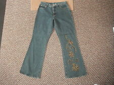 "X-Mail Bootcut Jeans Size 40 Waist 31"" Leg 32"" Faded Dark Blue Ladies Jeans"