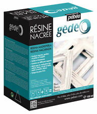 Pebeo Gedeo BIANCO PERLA RESINA & HARDENER 150ml KIT perlescenti modelmaking Craft