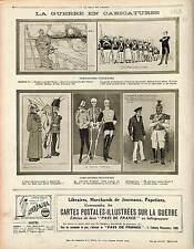 Caricature Italie Anti Boches Kaiser Kronprinz Deutsches Heer Germany 1914 WWI