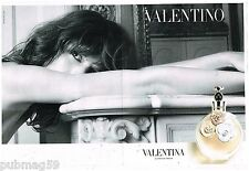 Publicité Advertising 2012 (2 pages) Parfum Valentina par Valentino