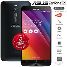 "New ASUS Zenfone 2 ZE551ML Black 5.5"" IPS Dual SIM 4G LTE Android Mobile Phone"