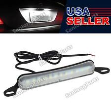 Xenon White Universal Fit 12SMD Bolt-On LED License Plate Lights 12V
