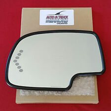 NEW MIRROR GLASS CHEVY GMC CADILLAC DRIVER SIDE TURN SIGNAL AUTO DIMMING HEATED