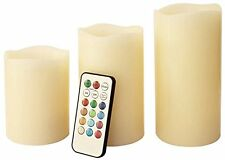 3pc telecomando modifica colore a CANDELE Simil Cera a LED senza fiamma con Timer