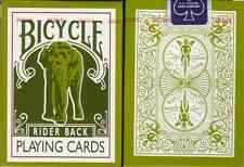 GREEN Bicycle Elephant 808 Tsunami Playing Cards Deck! Made in Ohio!