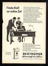3w138/ Alte Reklame - ca. 1960 - DEXTROPUR - Brennstoff des Lebens