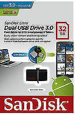 Sandisk Ultra Dual 32GB OTG USB 3.0 PenDrive+ Pen Drive + bill+warranty