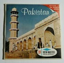 Vintage Rare View-Master PAKISTAN Nations of the World B233 3 Reel Set + Booklet