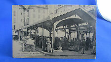 cpa  06 grasse le marché couvert animee