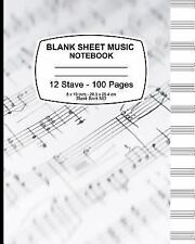 Blank Sheet Music Notebook : Music Note Cover, Music Manuscript Paper,Staff...