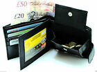 Mens luxury soft black real leather wallet purse, credit card holder coin holder