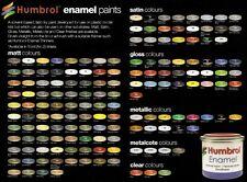 HUMBROL Enamel 14 ml 18 peintures au choix PORT GRATUIT