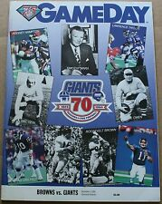 1994 Cleveland Browns New York Giants Program FN Testaverde Hampton
