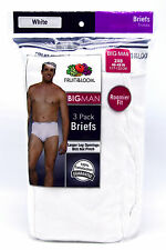6 Big Man 2XB 46-48 Inch Fruit Of The Loom White Briefs 2EG 117-122 CM