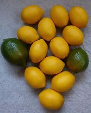 12 Lemon 2 Lime Plastic Fake Fruit Decor Artificial Prop Staging Craft LOOK REAL