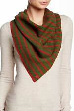 Marc by Marc Jacobs Women's Eva Wool Scarf Fatigue Green One Size $118 LD89
