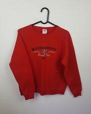 VTG RED PRO COLLEGE NFL ATHLETIC SPORTS OVERHEAD SWEATSHIRT JUMPER VGC UK S