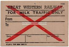 GWR For Milk Traffic Only 1940's? - Great Western Railway