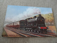 Post card - Railway- LMS Glasgow Express Tuck Oilette Caledonian railway unused