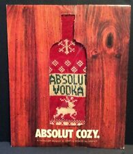 New Cynthia Rowley Absolut Vodka Ugly Sweater Cozy 1 Liter Prize Paper Sleeve
