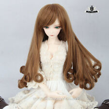 9-10inch 1/3 BJD Wig 70cm BJD Wig Dollfie DOD AOD MID Brown princess Curly hair
