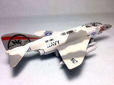 "F-4 Phantom, Aircraft /Fighter,U.S. Navy , Pull Back To Go,7"" Diecast Toy Gray"