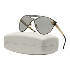 Versace VE2161 Rock Icons Medusa Sunglasses 1002/6G Gold Silver Mirrored Lenses