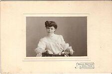 CAB photo Feine Dame mit Widmung - Bielefeld 1907