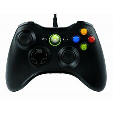Microsoft Xbox 360 wired controller noir pour Windows PC-neuf!