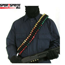 Tactical 50 Shotgun Shell Bullet  Belt Shoulder Gun Ammo Bandolier Sling UK