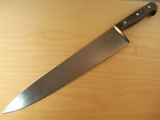 Beautiful Vintage Sword & Shield Carbon Steel 12.5 inch Chef Knife