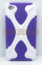 for iphone 4 4s hybrid soft and hard case 3D cool X design plus film//